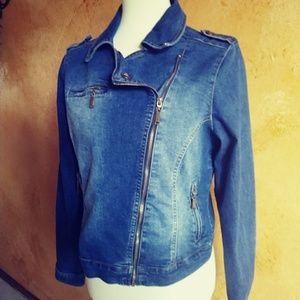 JouJou Denim Moto Jacket L